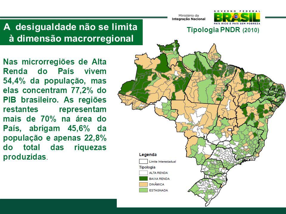 A desigualdade não se limita à dimensão macrorregional