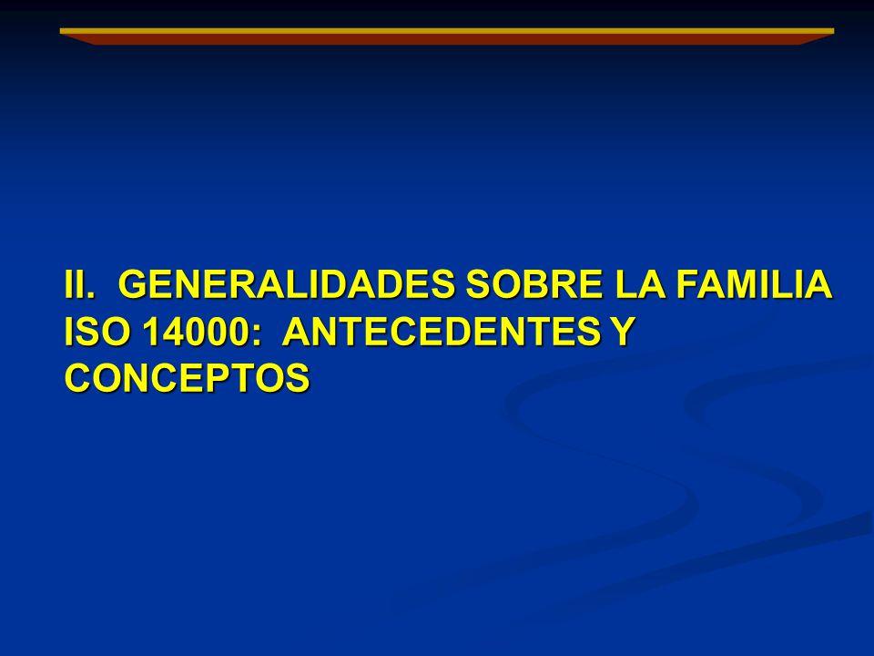II. GENERALIDADES SOBRE LA FAMILIA ISO 14000: ANTECEDENTES Y CONCEPTOS