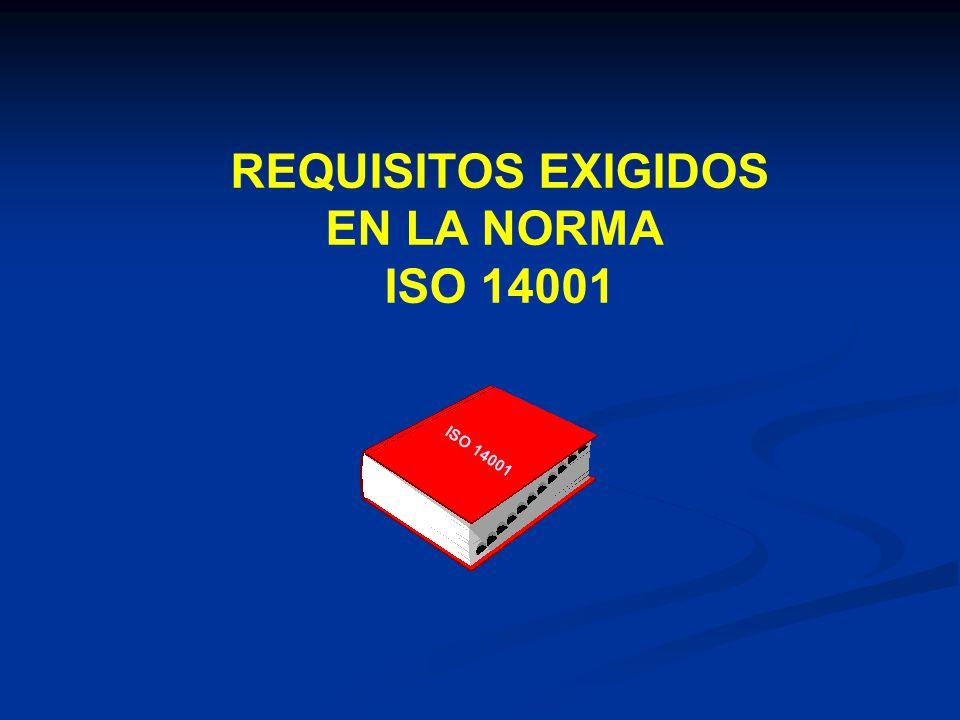 REQUISITOS EXIGIDOS EN LA NORMA ISO 14001