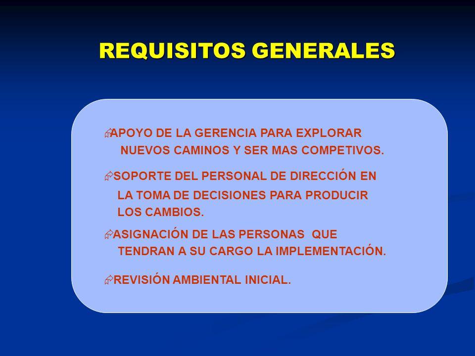 REQUISITOS GENERALES APOYO DE LA GERENCIA PARA EXPLORAR
