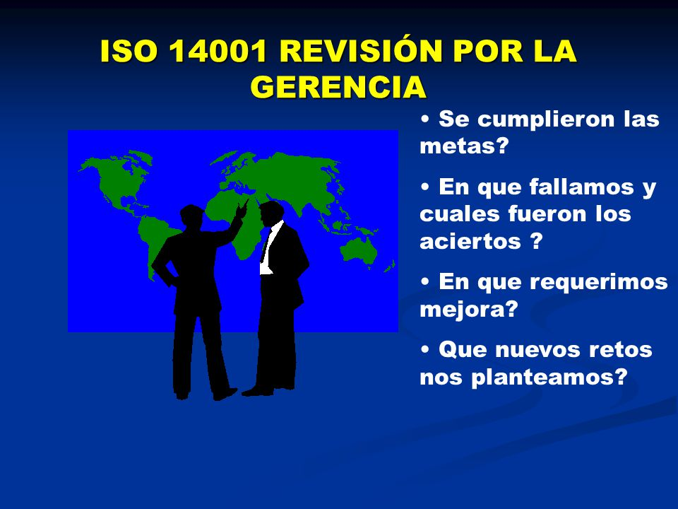 ISO 14001 REVISIÓN POR LA GERENCIA