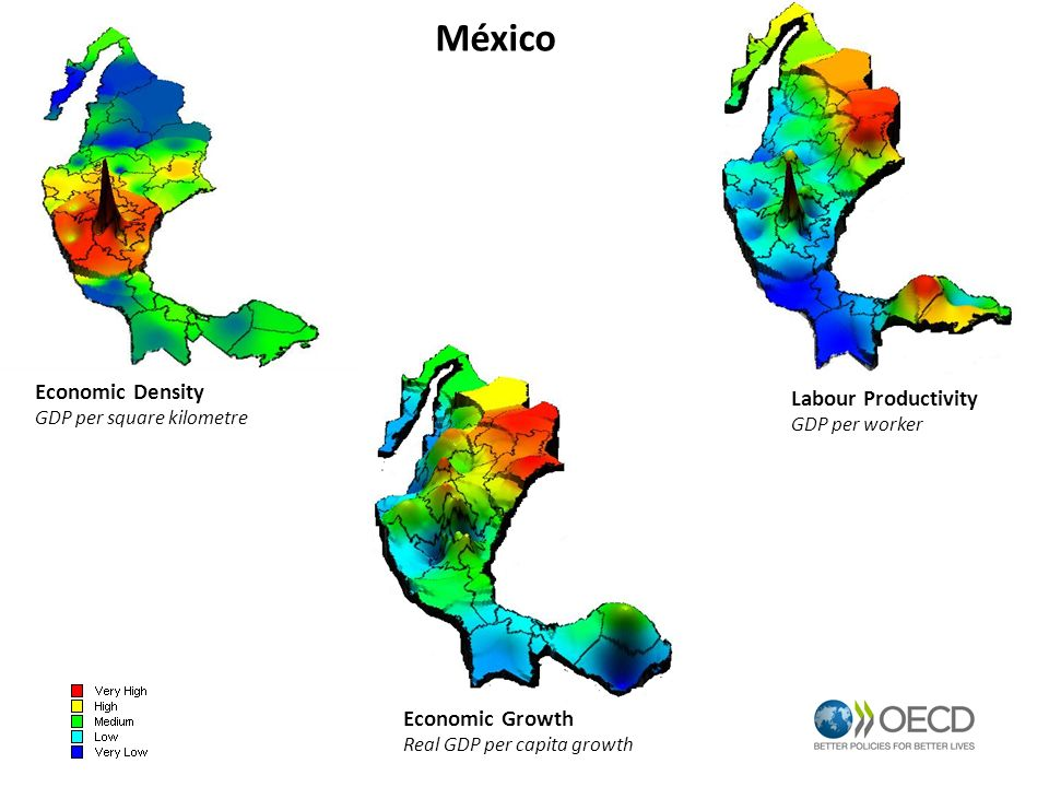 México Economic Density Labour Productivity Economic Growth