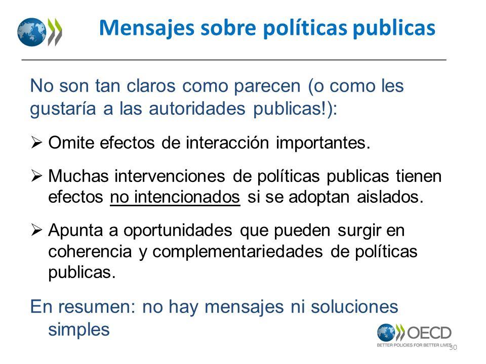 Mensajes sobre políticas publicas