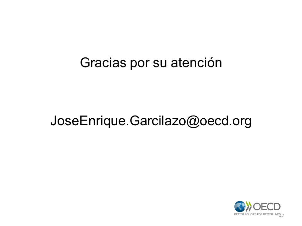 Gracias por su atención JoseEnrique.Garcilazo@oecd.org