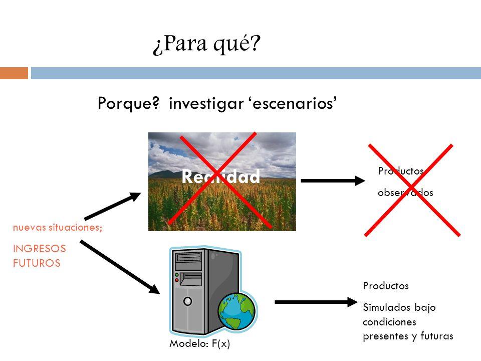 ¿Para qué Realidad Porque investigar 'escenarios' Productos