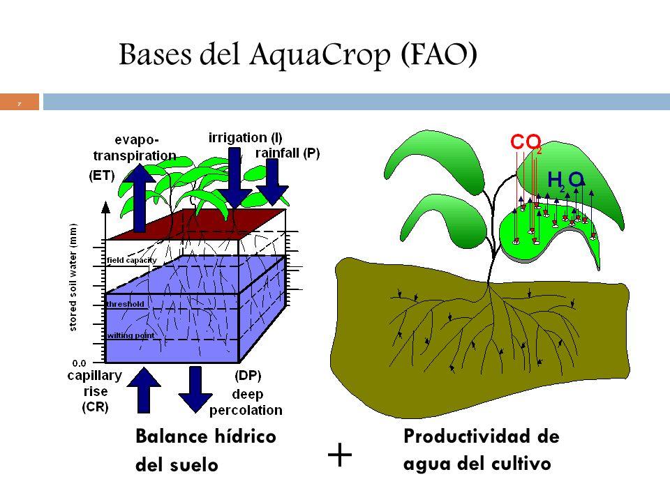 Bases del AquaCrop (FAO)