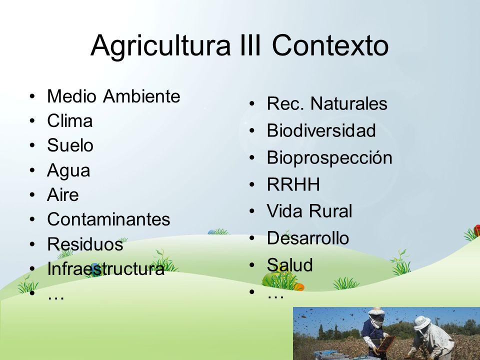 Agricultura III Contexto