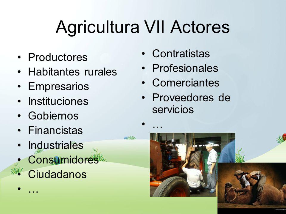 Agricultura VII Actores