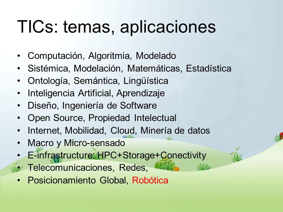TICs: temas, aplicaciones
