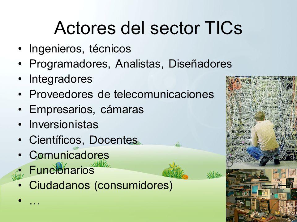 Actores del sector TICs