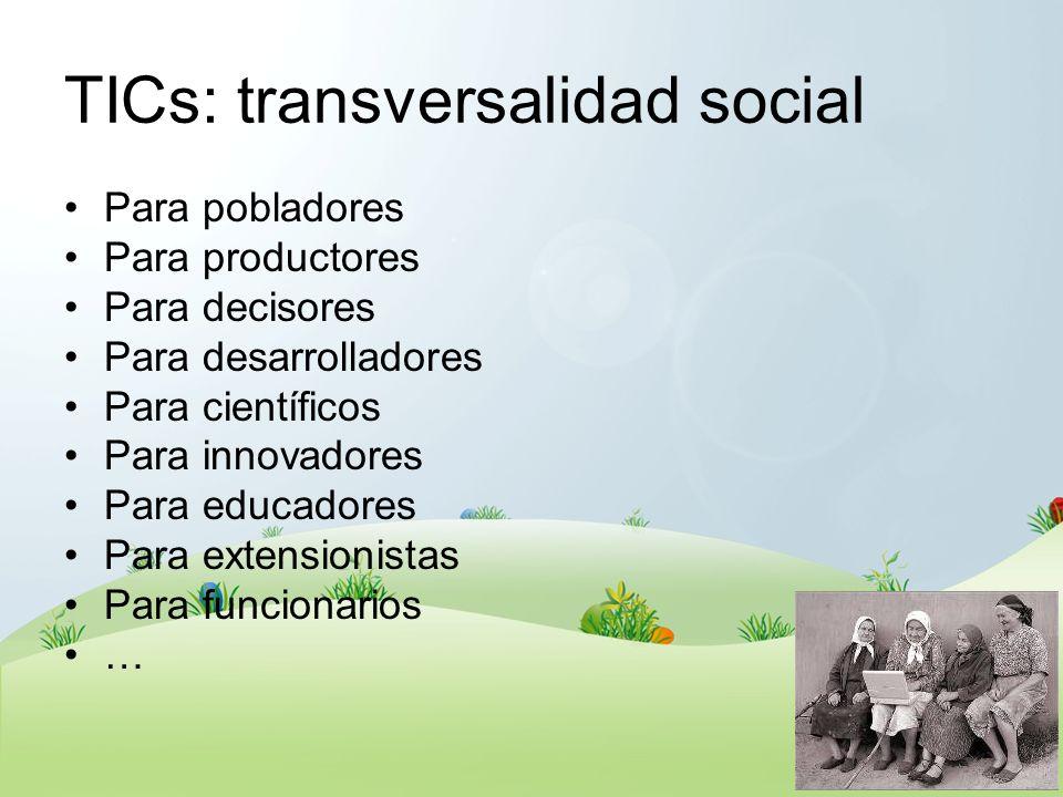 TICs: transversalidad social