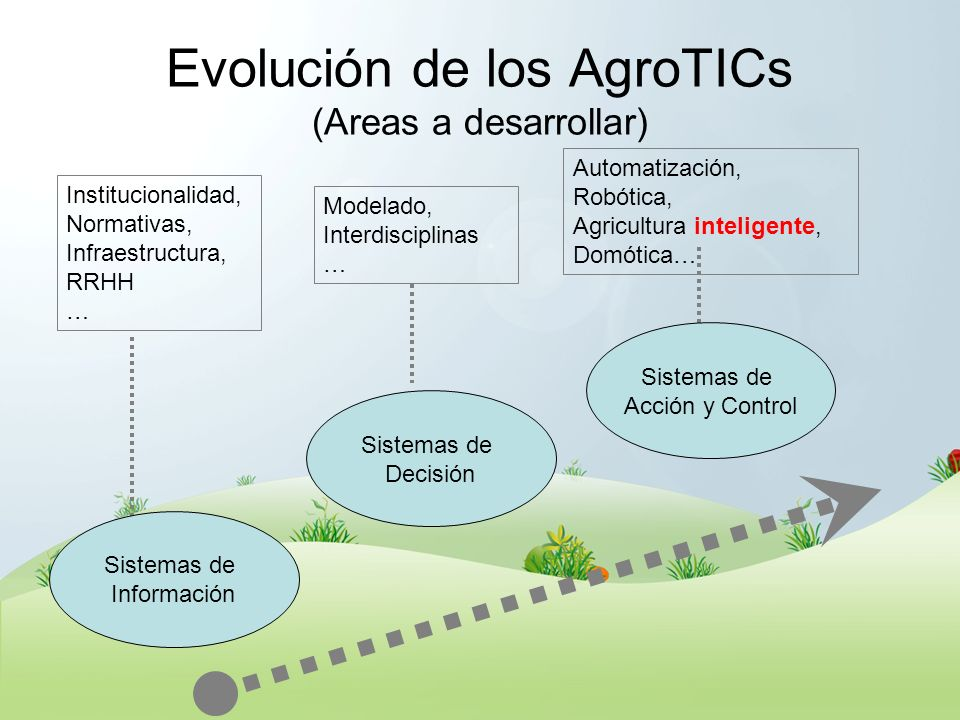 Evolución de los AgroTICs (Areas a desarrollar)