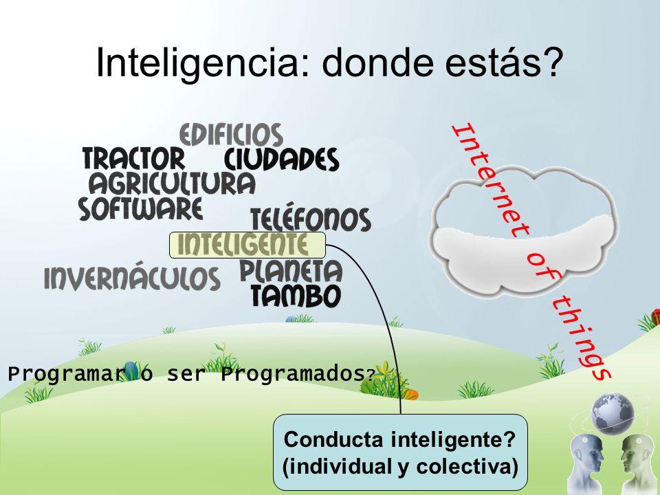 Inteligencia: donde estás