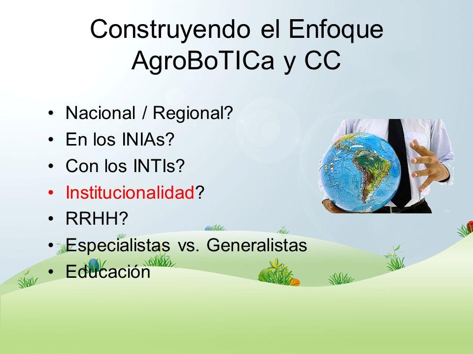 Construyendo el Enfoque AgroBoTICa y CC