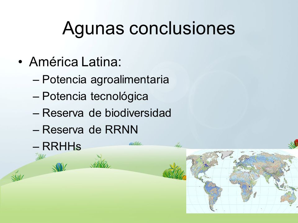 Agunas conclusiones América Latina: Potencia agroalimentaria