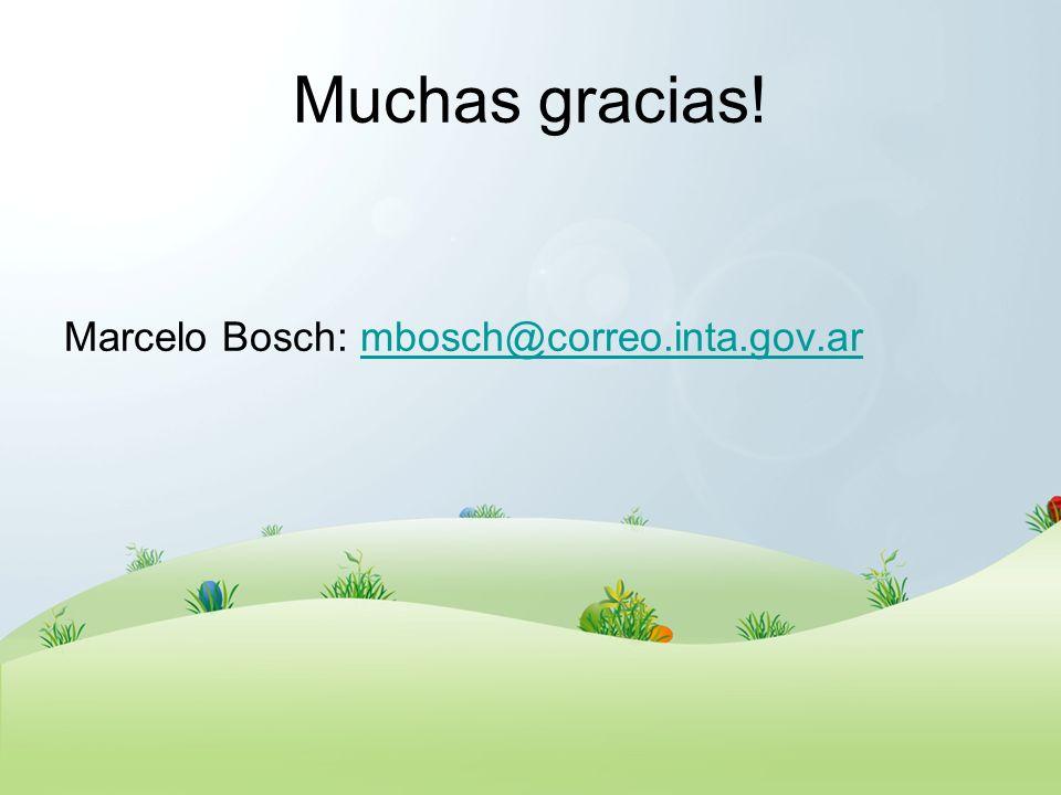 Muchas gracias! Marcelo Bosch: mbosch@correo.inta.gov.ar