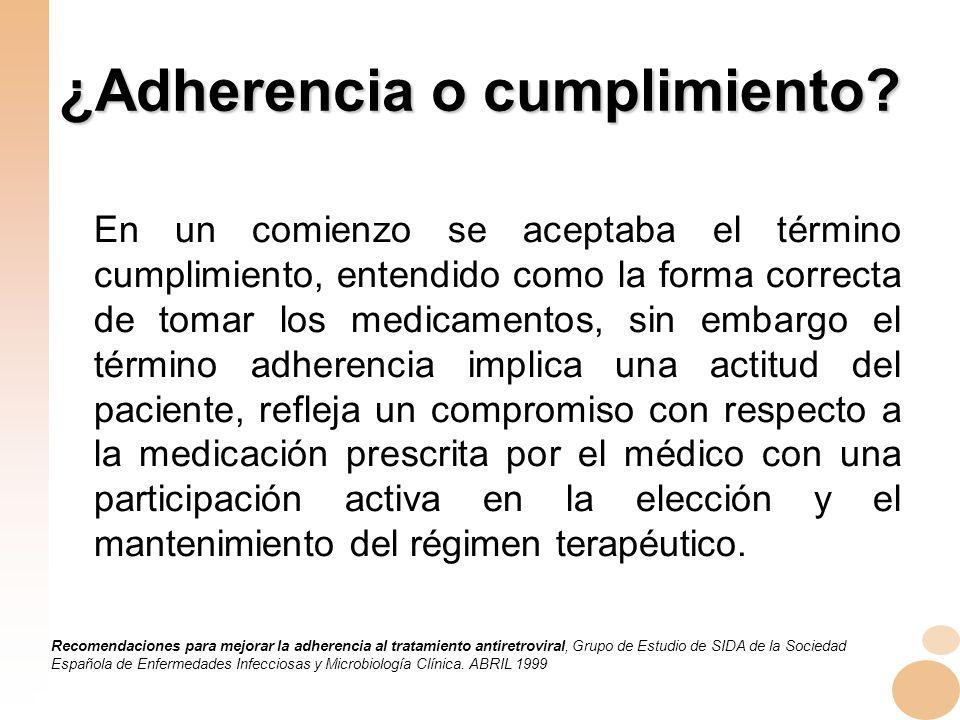 ¿Adherencia o cumplimiento