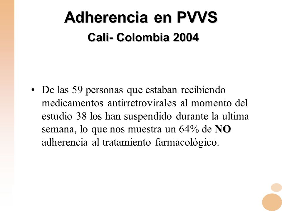 Adherencia en PVVS Cali- Colombia 2004