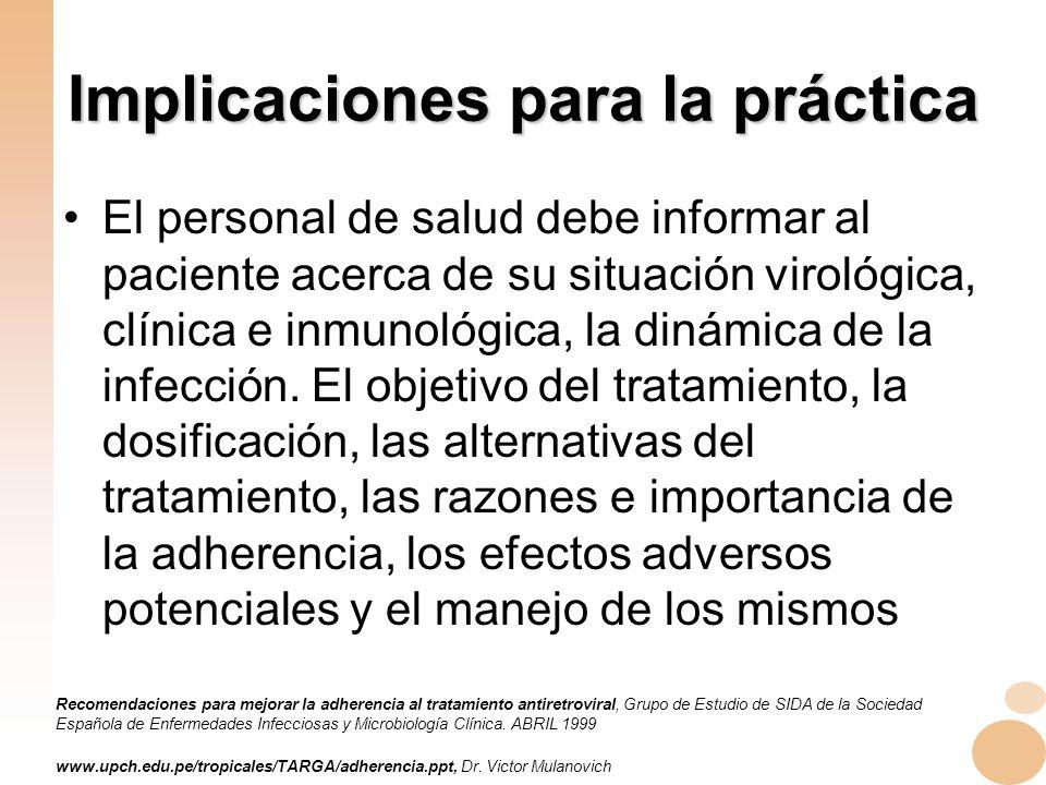 Implicaciones para la práctica