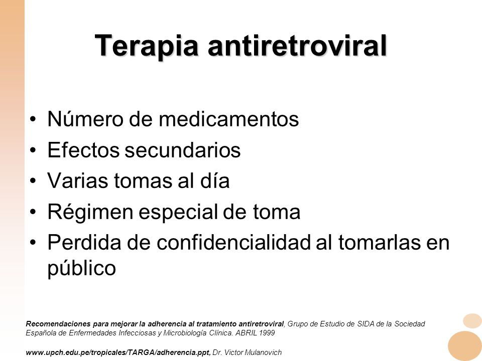 Terapia antiretroviral