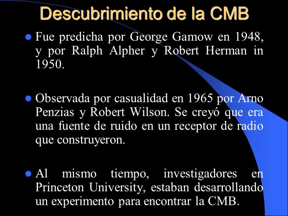 Descubrimiento de la CMB