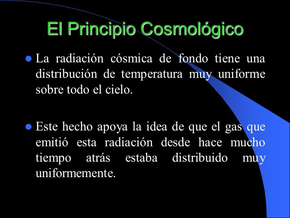 El Principio Cosmológico