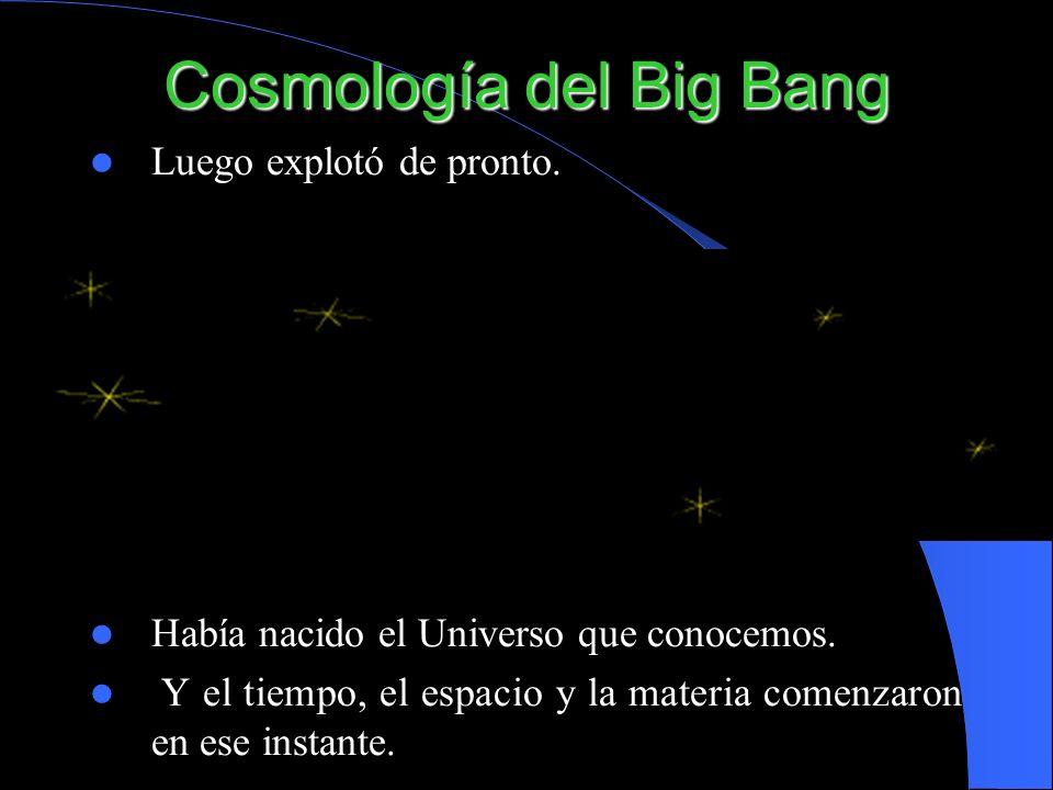 Cosmología del Big Bang