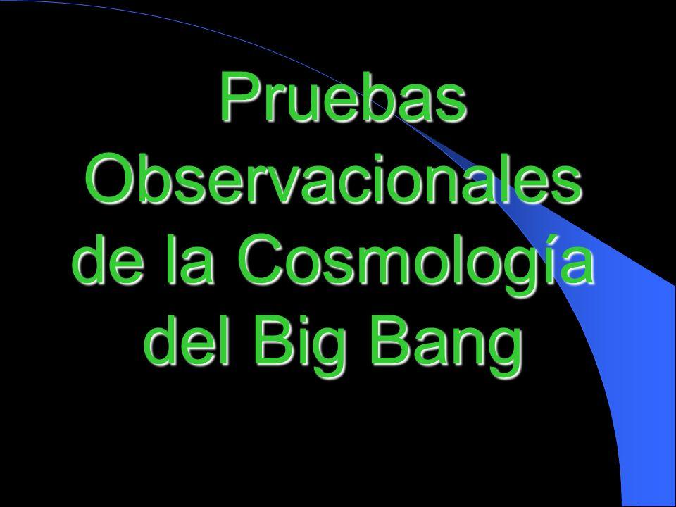 Pruebas Observacionales de la Cosmología del Big Bang
