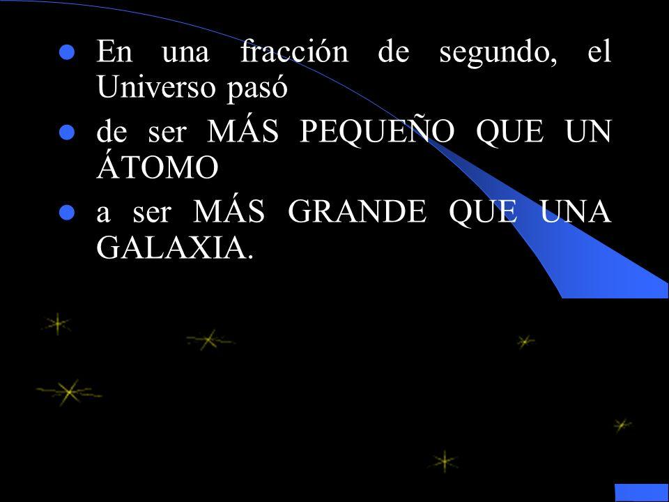 En una fracción de segundo, el Universo pasó