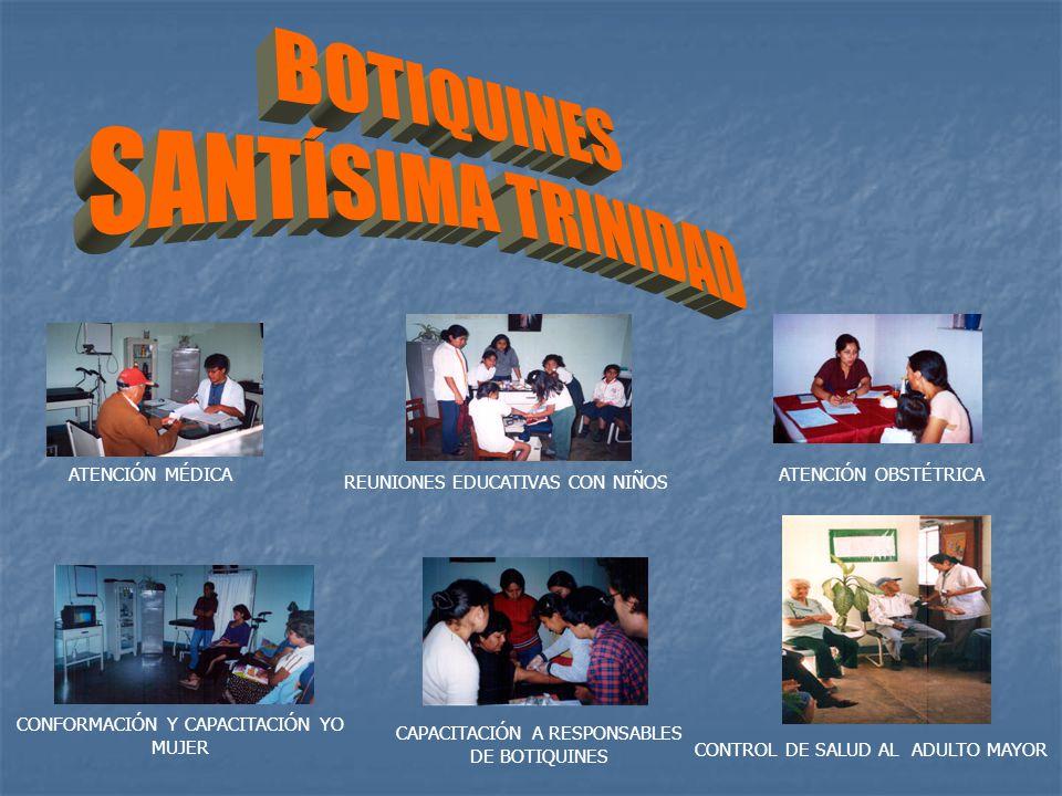 BOTIQUINES SANTÍSIMA TRINIDAD ATENCIÓN MÉDICA ATENCIÓN OBSTÉTRICA