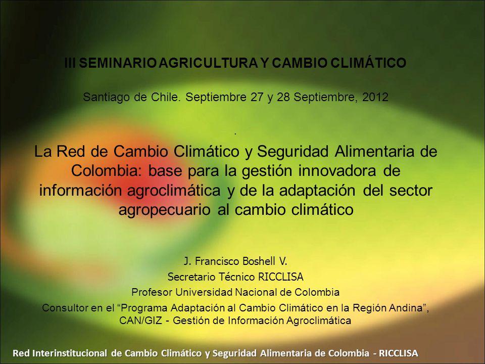 III SEMINARIO AGRICULTURA Y CAMBIO CLIMÁTICO