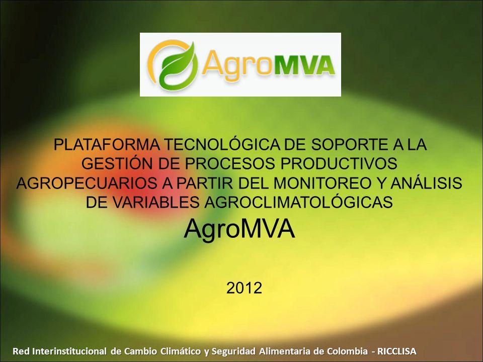 PLATAFORMA TECNOLÓGICA DE SOPORTE A LA GESTIÓN DE PROCESOS PRODUCTIVOS AGROPECUARIOS A PARTIR DEL MONITOREO Y ANÁLISIS DE VARIABLES AGROCLIMATOLÓGICAS AgroMVA