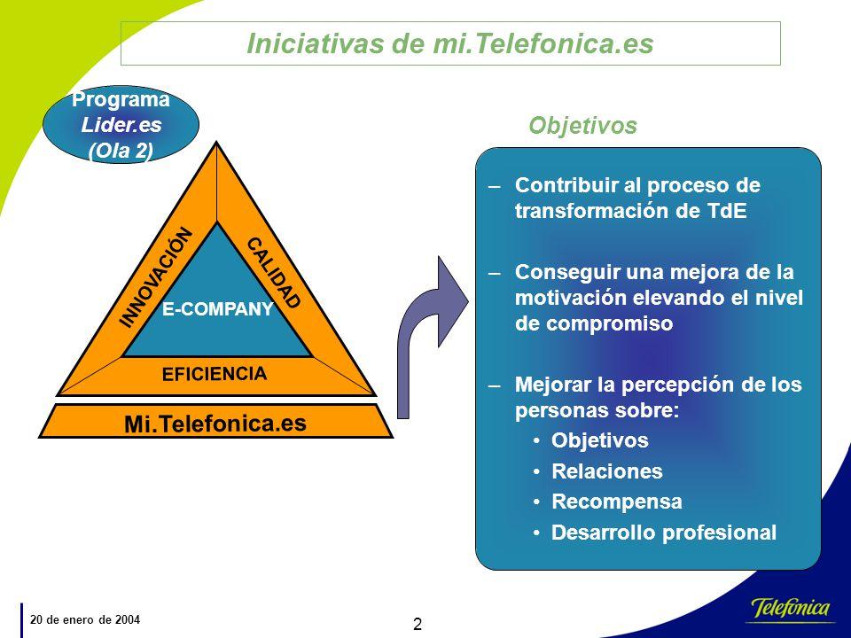 Iniciativas de mi.Telefonica.es Programa Lider.es (Ola 2)