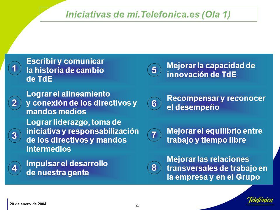 Iniciativas de mi.Telefonica.es (Ola 1)