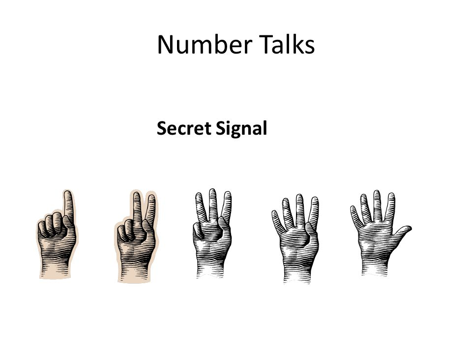 Number Talks Secret Signal