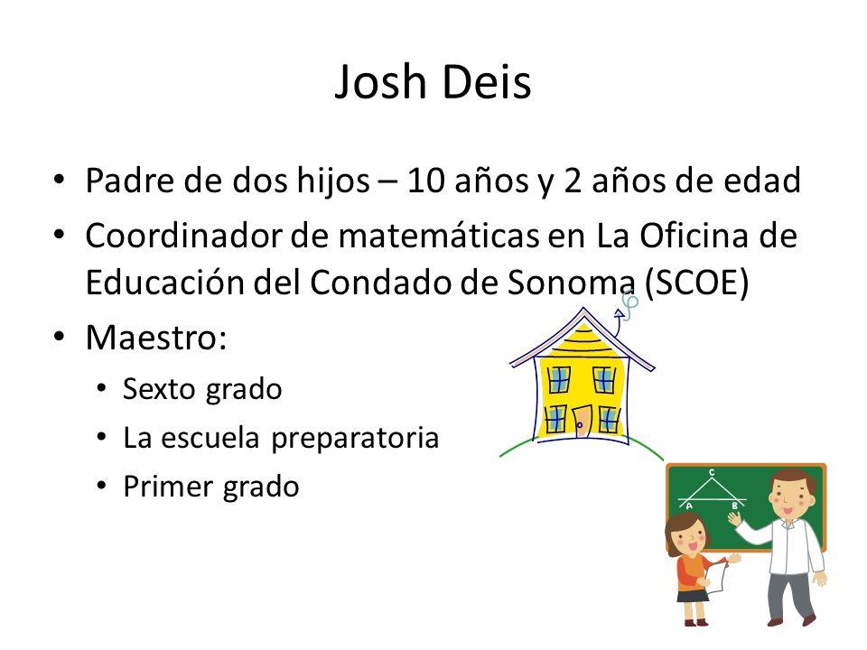 Josh Deis Padre de dos hijos – 10 años y 2 años de edad