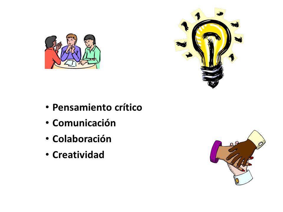 Pensamiento crítico Comunicación Colaboración Creatividad