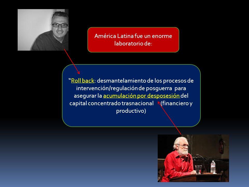 América Latina fue un enorme laboratorio de: