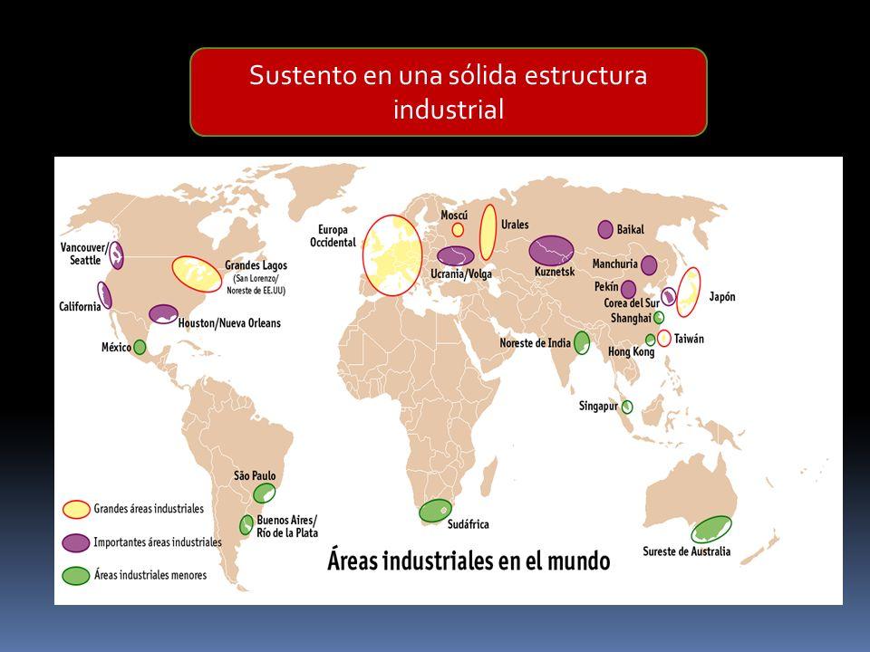 Sustento en una sólida estructura industrial