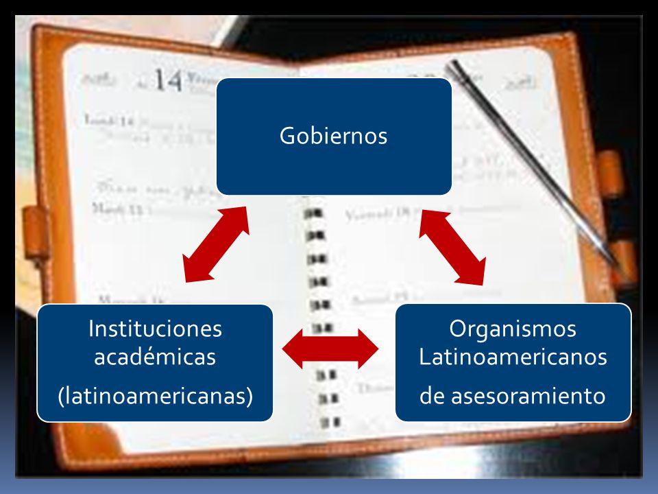 Organismos Latinoamericanos de asesoramiento Instituciones académicas