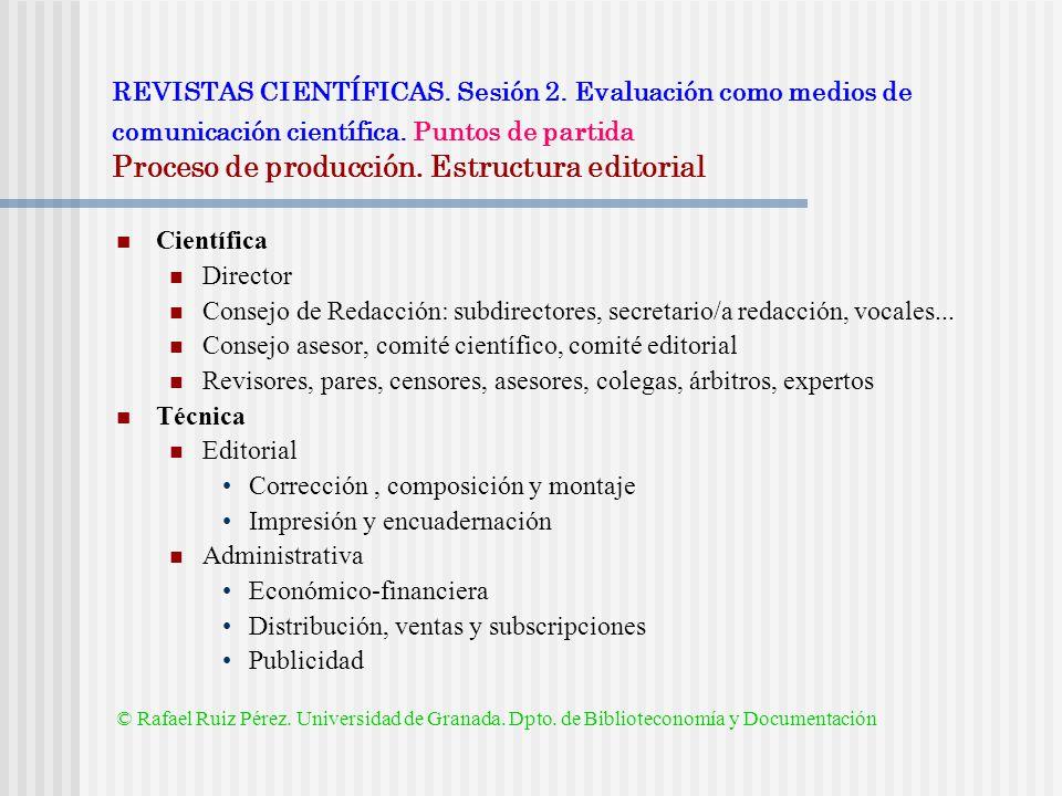 Consejo asesor, comité científico, comité editorial
