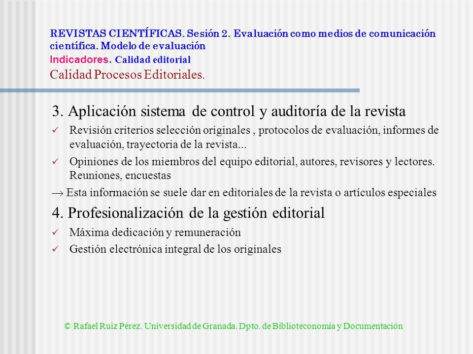 3. Aplicación sistema de control y auditoría de la revista
