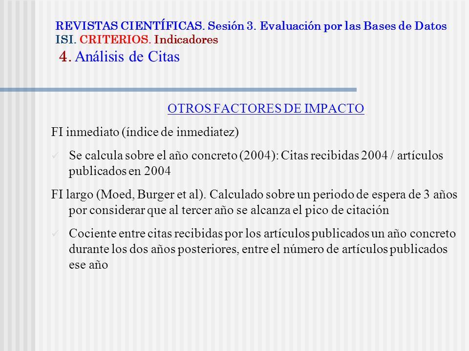 OTROS FACTORES DE IMPACTO