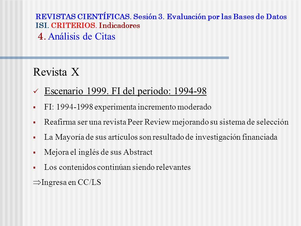 Revista X Escenario 1999. FI del periodo: 1994-98