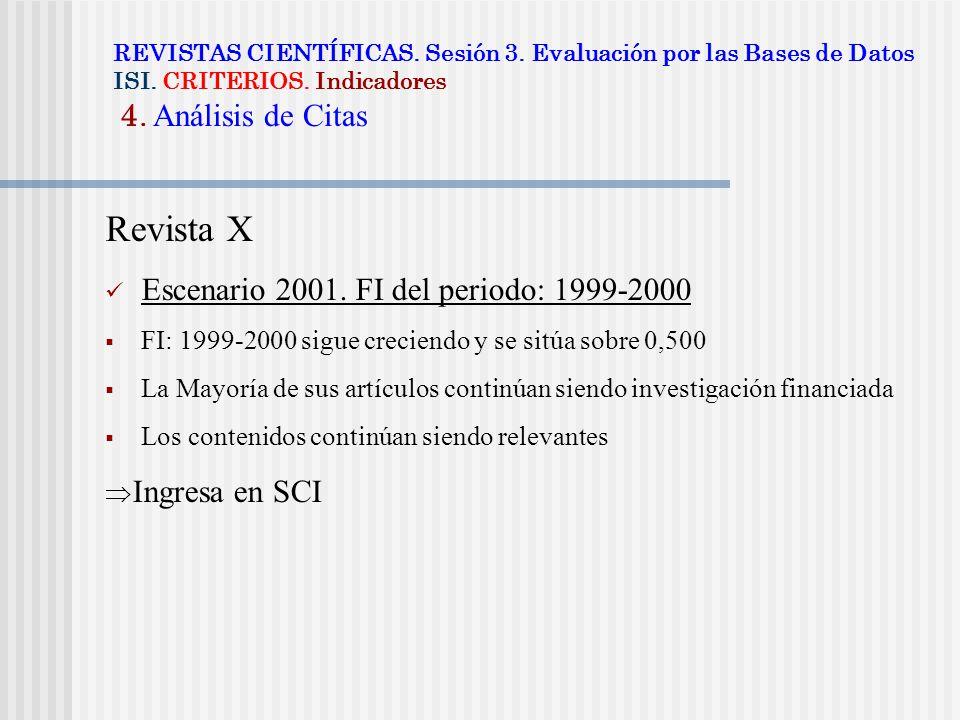 Revista X Escenario 2001. FI del periodo: 1999-2000