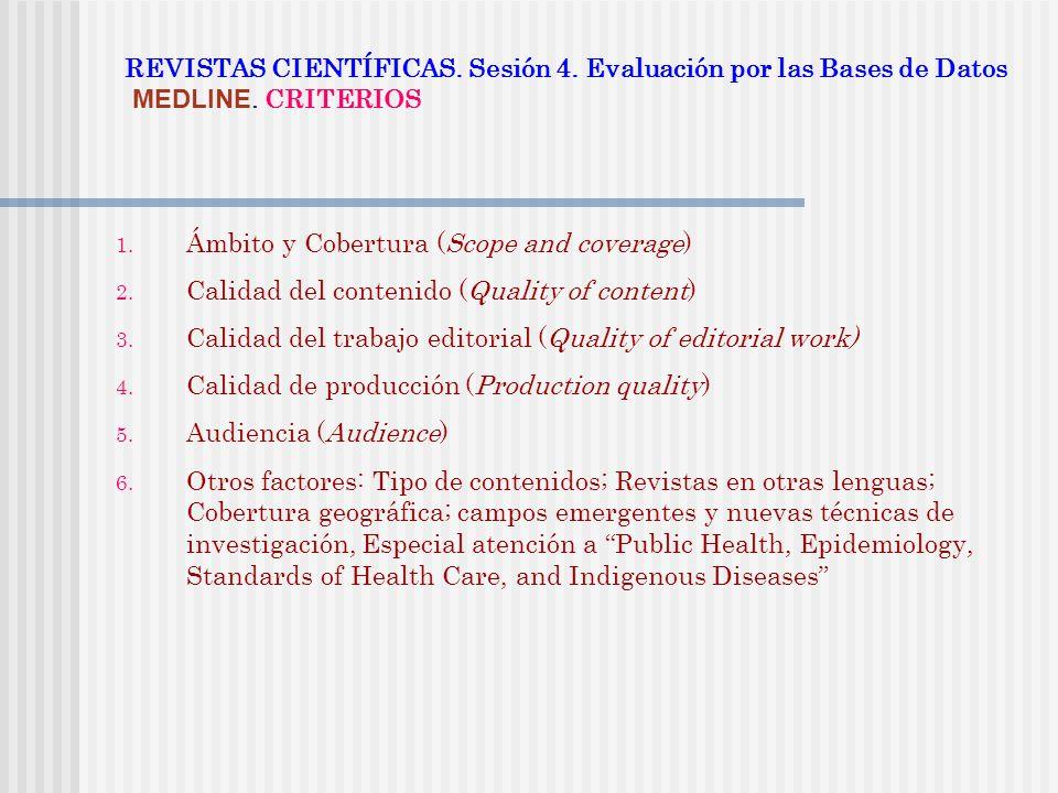 Ámbito y Cobertura (Scope and coverage)