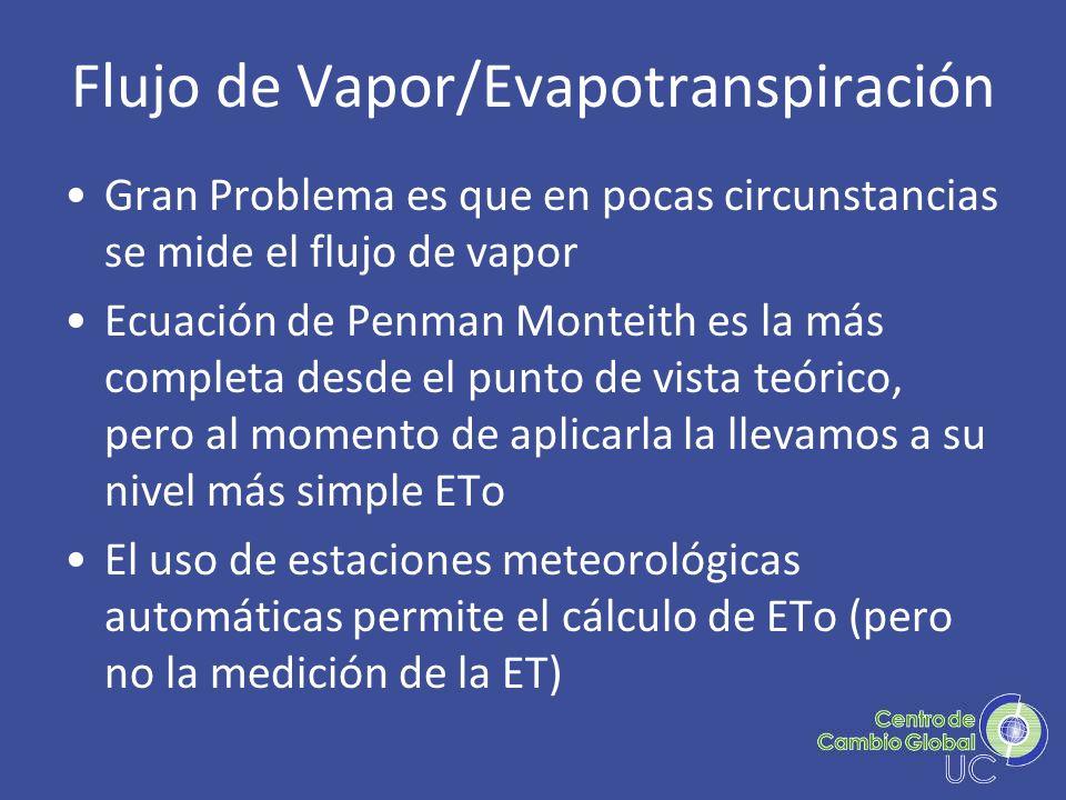 Flujo de Vapor/Evapotranspiración