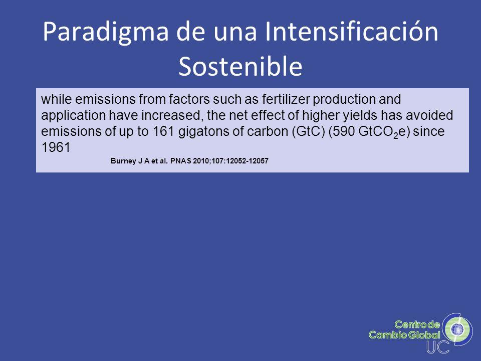 Paradigma de una Intensificación Sostenible