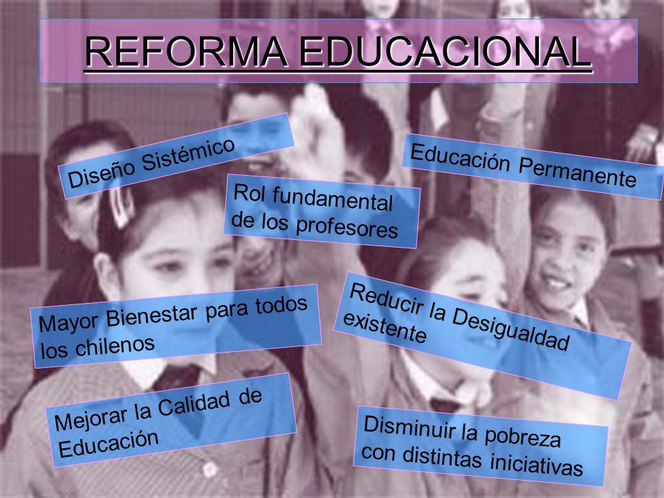 REFORMA EDUCACIONAL Diseño Sistémico Educación Permanente