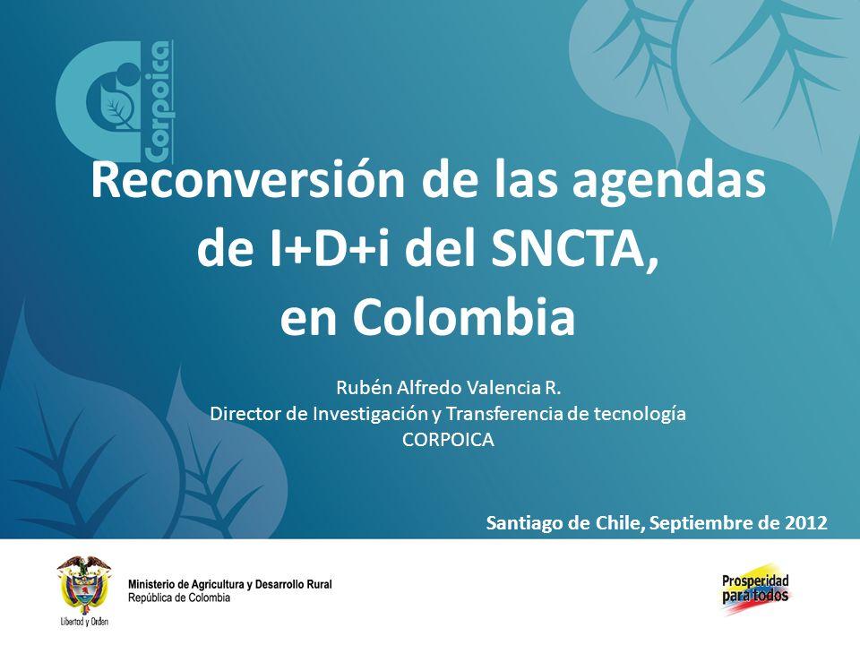 Reconversión de las agendas de I+D+i del SNCTA, en Colombia